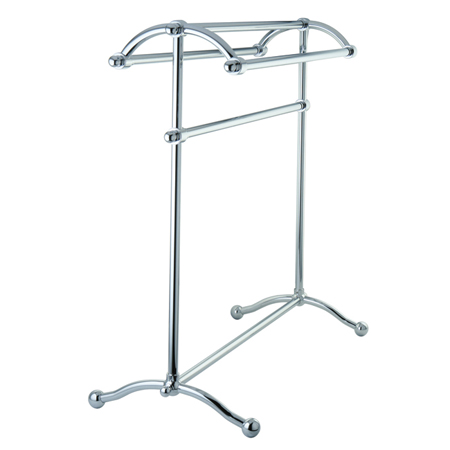 Kingston Cc2291 Free Standing Towel Rack Chrome Ebay