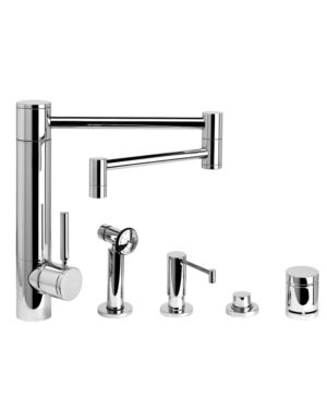waterstone 18 quot articulated spout kitchen faucet suite