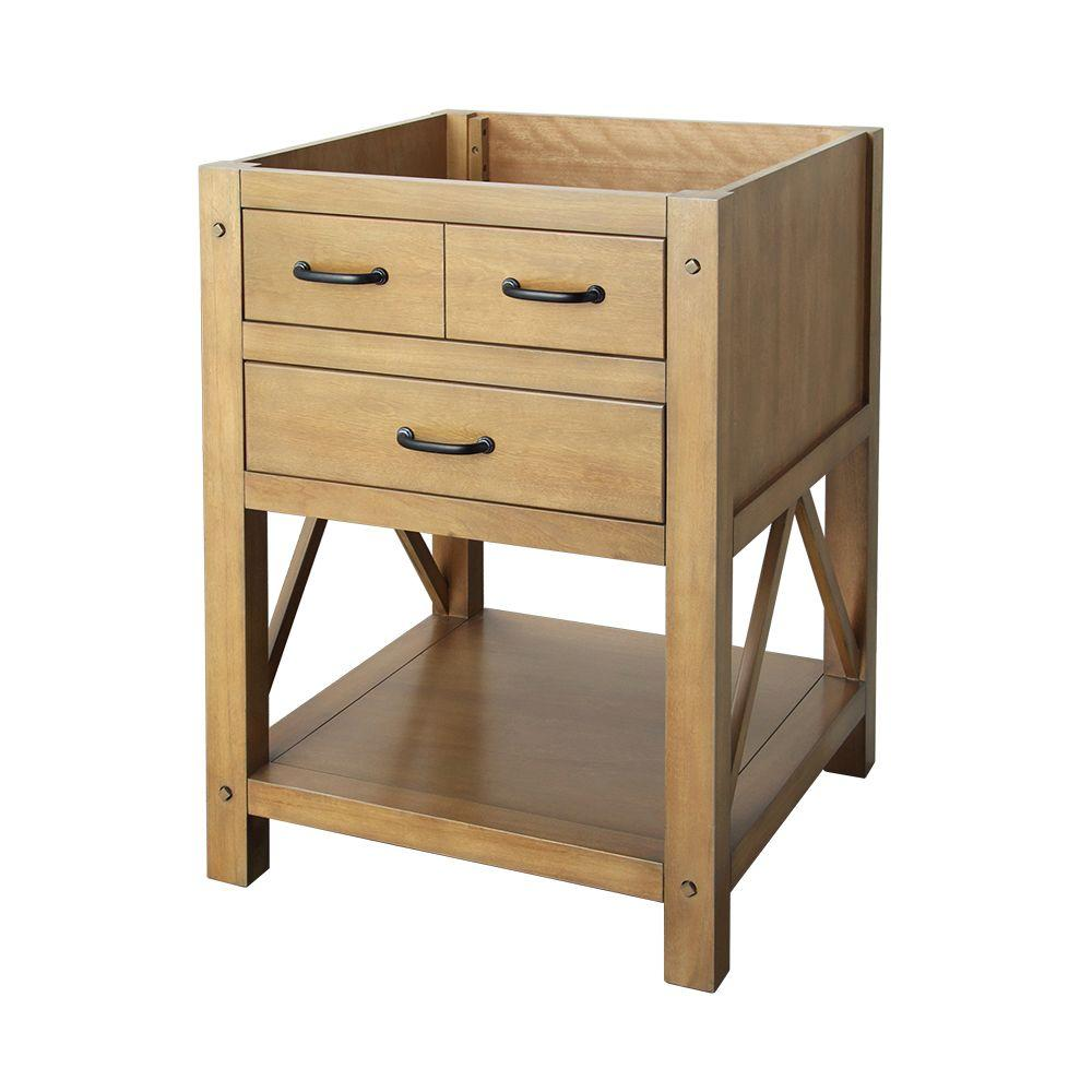 about foremost avondale 24 in vanity cabinet only in weathered pine